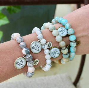 Never Lose Hope - Beaded Sentiment Bracelets