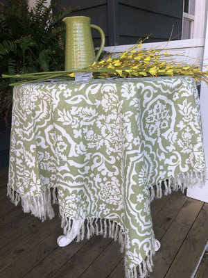 "Floral Tablecloth 54"" x 54"""