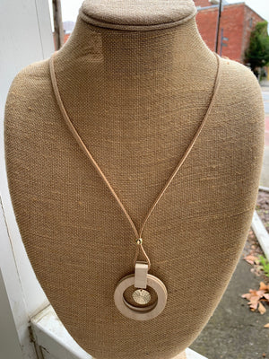 Wood and Suede Necklace (PP102)