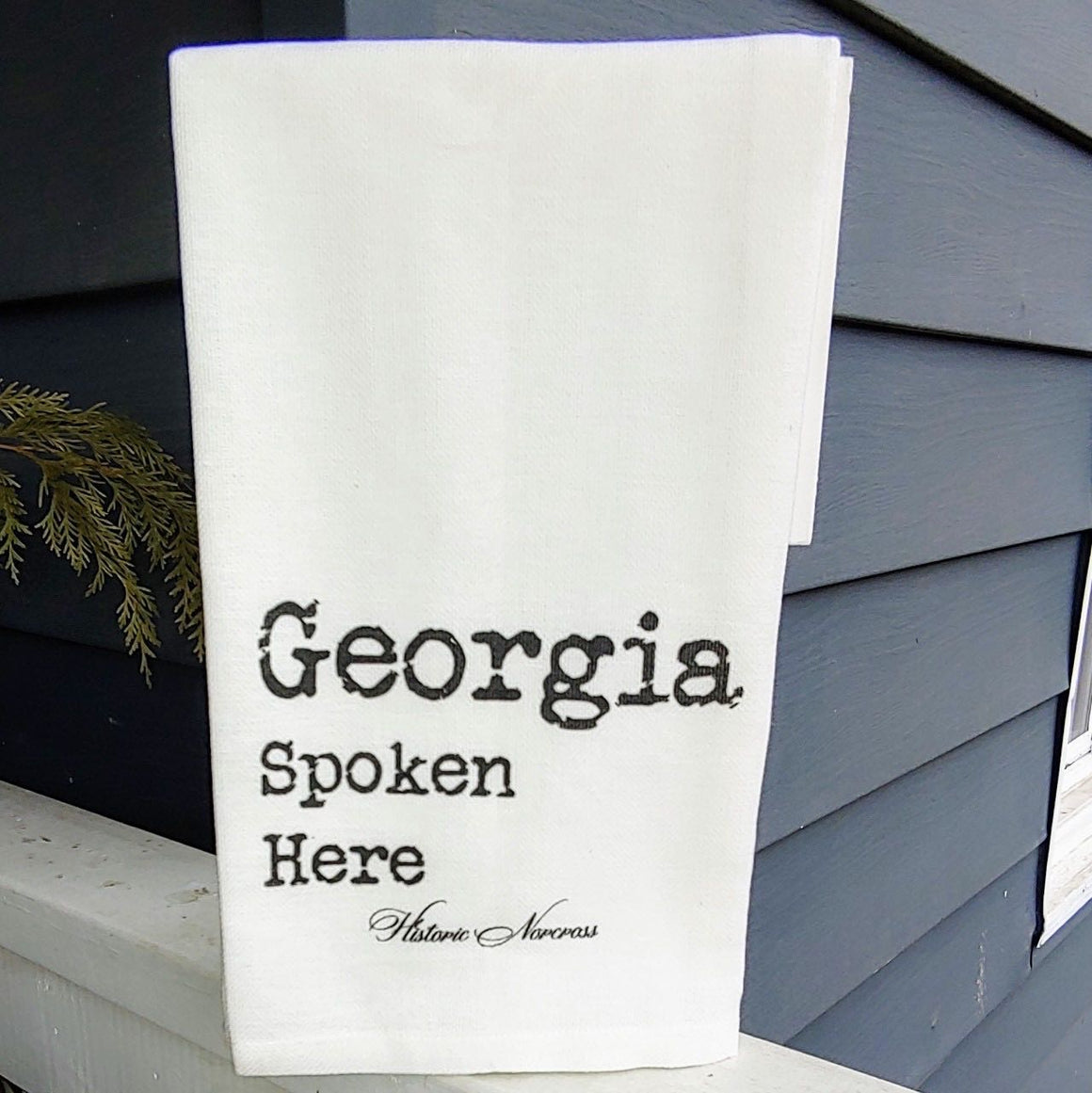 French Graffiti Cotton Dishtowel - Georgia Spoken Here