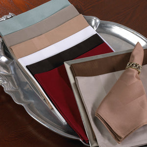 Satin Banded Napkin in Cranberry