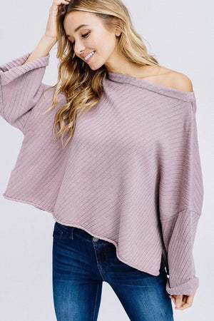 Paper Moon Oversized Rib Knit Sweater, Mauve