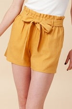 High Waist Paperbag Shorts with Tie