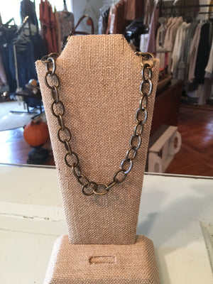Link chain choker necklace for layering #1064