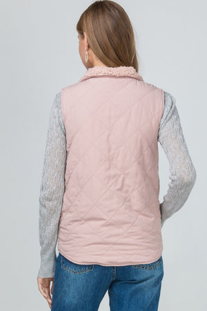 Reversible  Blush Vest with pockets