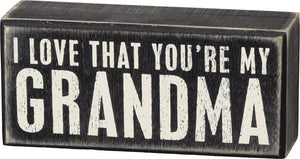 Assorted Wooden Box Signs Featuring Distressed Sentiments