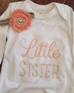 Little sister Love Bug - Baby Onesie