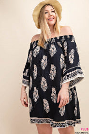 Curvy Fit On or Off the Shoulder Dress