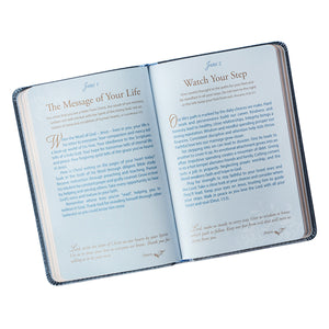 Journal - Mr. and Mrs. Blue Faux Leather Devotions for Couples