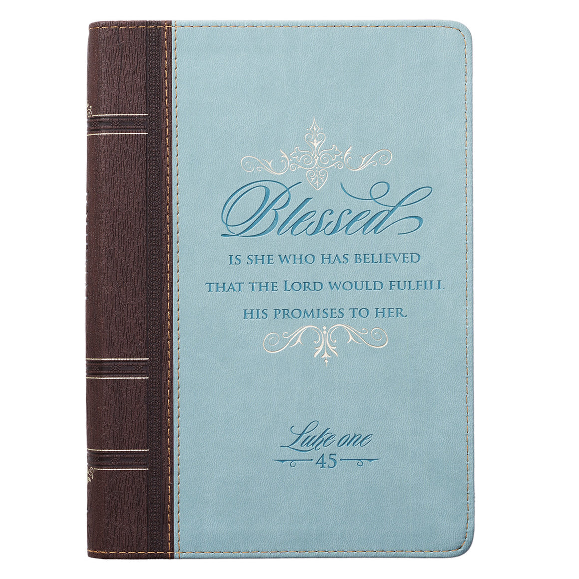 Journal - Blessed Zippered Classic LuxLeather - Luke 1:45