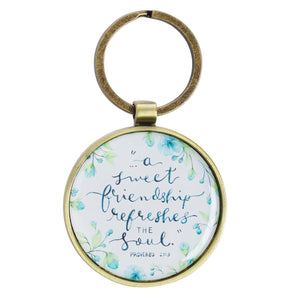 Round Key Ring - A Sweet Friendship Refreshes the Soul