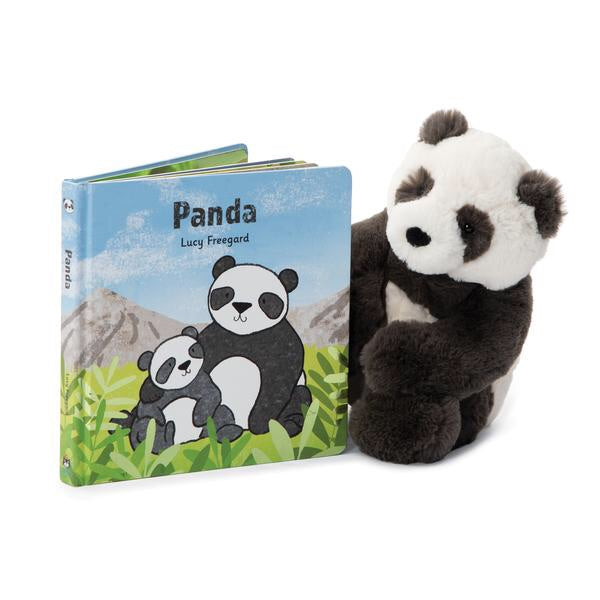 A wonderful panda wander!What do pandas do each day? Find out in the Panda Book! Follow this fluffy, funny bear on a misty mountain adventure. Munching bamboo, rolling about and cuddling up close to stay warm - being a panda is busy work! A gorgeous board book with bold, bright colours - perfect for curious cubs.  Plush not included, sold separately.