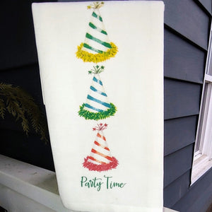 Party Time -  French Graffiti Cotton Dishtowel
