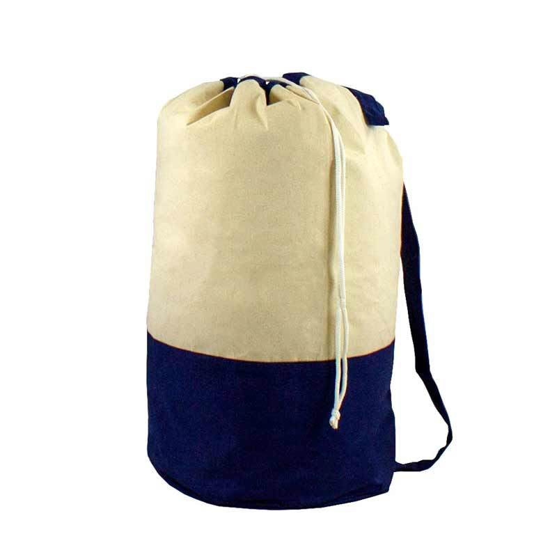 Cotton Canvas Camp Duffle and Laundry Bag Combo