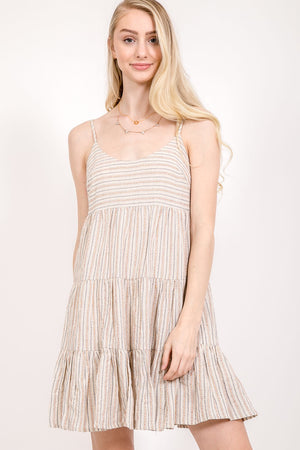 Women's Denim Striped Sundress