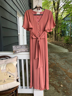 Veronica Jumpsuit in Salmon