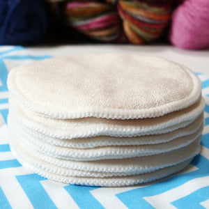 Reusable Cloth Nursing Pad Sets -Absorbent Bamboo/Organic Cotton Terry with PUL