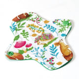 6 inch Reusable Cloth winged ULTRATHIN Pantyliner - Cotton Flannel Fabric - Retro Forest