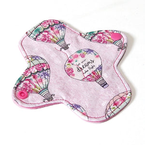 6 inch Reusable Cloth winged ULTRATHIN Pantyliner - Quilter's Cotton Fabric - Dream Balloons