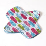 6 inch Reusable Cloth winged ULTRATHIN Pantyliner - Quilter's Cotton Fabric - Feathers