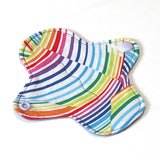 6 inch Reusable Cloth winged ULTRATHIN Pantyliner - Quilter's Cotton Fabric - Rainbow Waves