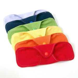"Set of 6 Rainbow Ultrathin Reusable 7"" Cloth Pantyliners"