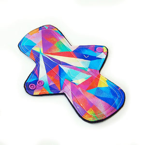 "8"" Light Flow Cloth Menstrual Pad -  Windpro  - Quilter's Cotton - Kaleidoscope"