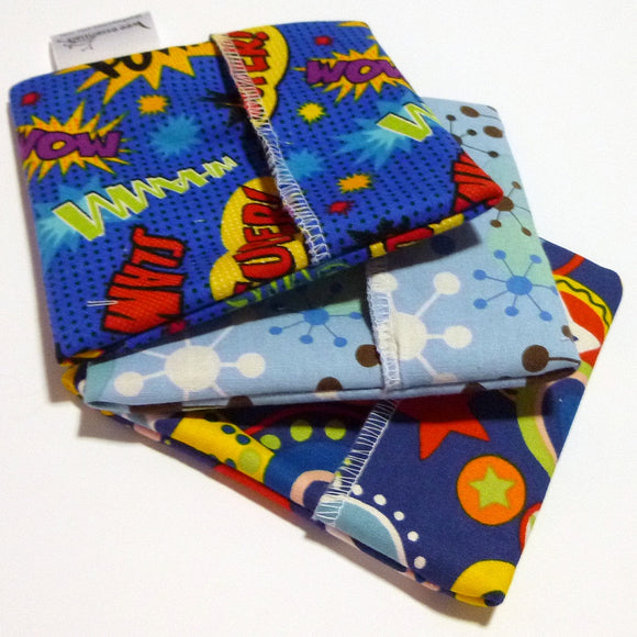 Made to Order - Cloth Menstrual Pad Wrapper - waterproof PUL lining and quilter's cotton outer - 4.5 x 4.5 inches - you choose fabric!