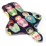 "MADE TO ORDER - 7"" Reusable Cloth Menstrual Thong-shaped pad - choose your fabric and absorbency"