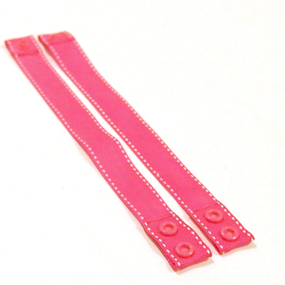 Limited Edition! Set of 2 Pink Dotted Line Cloth Menstrual Pad Drying Straps - hang your pads to air dry!