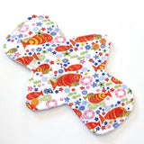 "9"" Heavy Flow Cloth Menstrual Pad -  PUL  - Cotton Knit Koi"