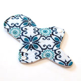 Heavy Flow Thong Cloth Pad with heavy fleece water barrier - Turquoise Geometric