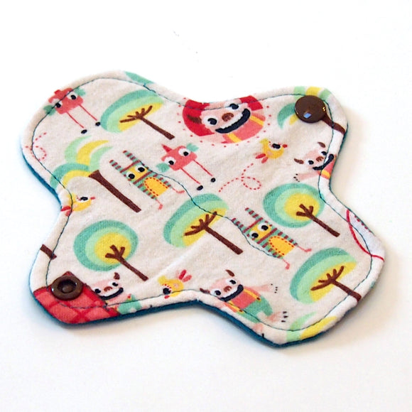 6 inch Reusable Cloth winged ULTRATHIN Pantyliner - Trolls Cotton flannel top