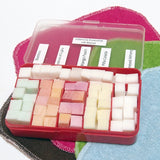 Cloth Wipe Bit Solution Cubes Sampler (red box) -  120 cubes, one soap bit box! Choose your own scents