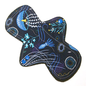 "9"" Moderate Flow Cloth Menstrual Pad -  Windpro  - Quilter's Cotton - Jellyfish"