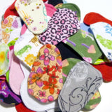 Reusable Cloth ULTRATHIN lay-in wingless pantyliners - Assorted set in Cotton Flannel