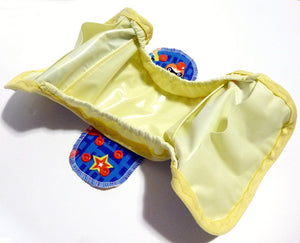 MADE TO ORDER Postpartum Gusseted Cloth Pad - Babymoon wipeable menstrual pad shell and inserts with snapping wings