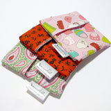 Made to Order - Set of 3 Cloth Menstrual Pad Wrappers - waterproof PUL lining & quilter's cotton - 4.5 x 4.5 inches - you choose fabrics!