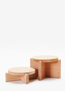 Wood Pedestal Set