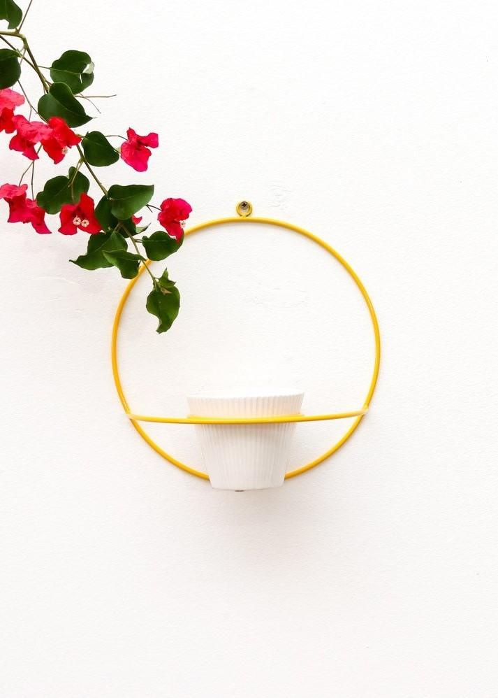 Coated Steel Circle Wall Planter