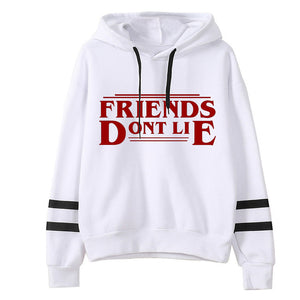 Stranger Things Design Womens   Hoodie Friends Don't Lie