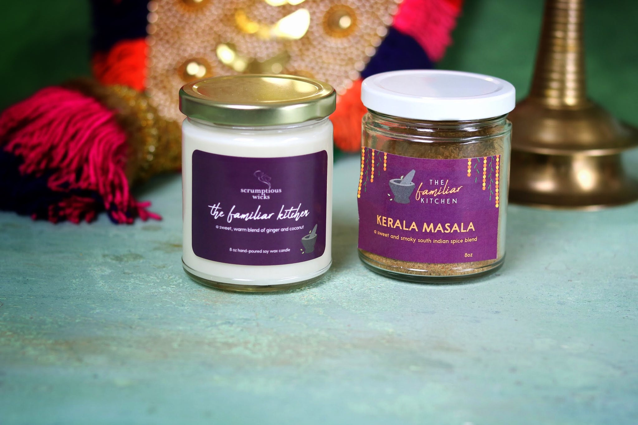 """The Familiar Kitchen"" Candle and Spice Blend Duo Set [LIMITED EDITION]"