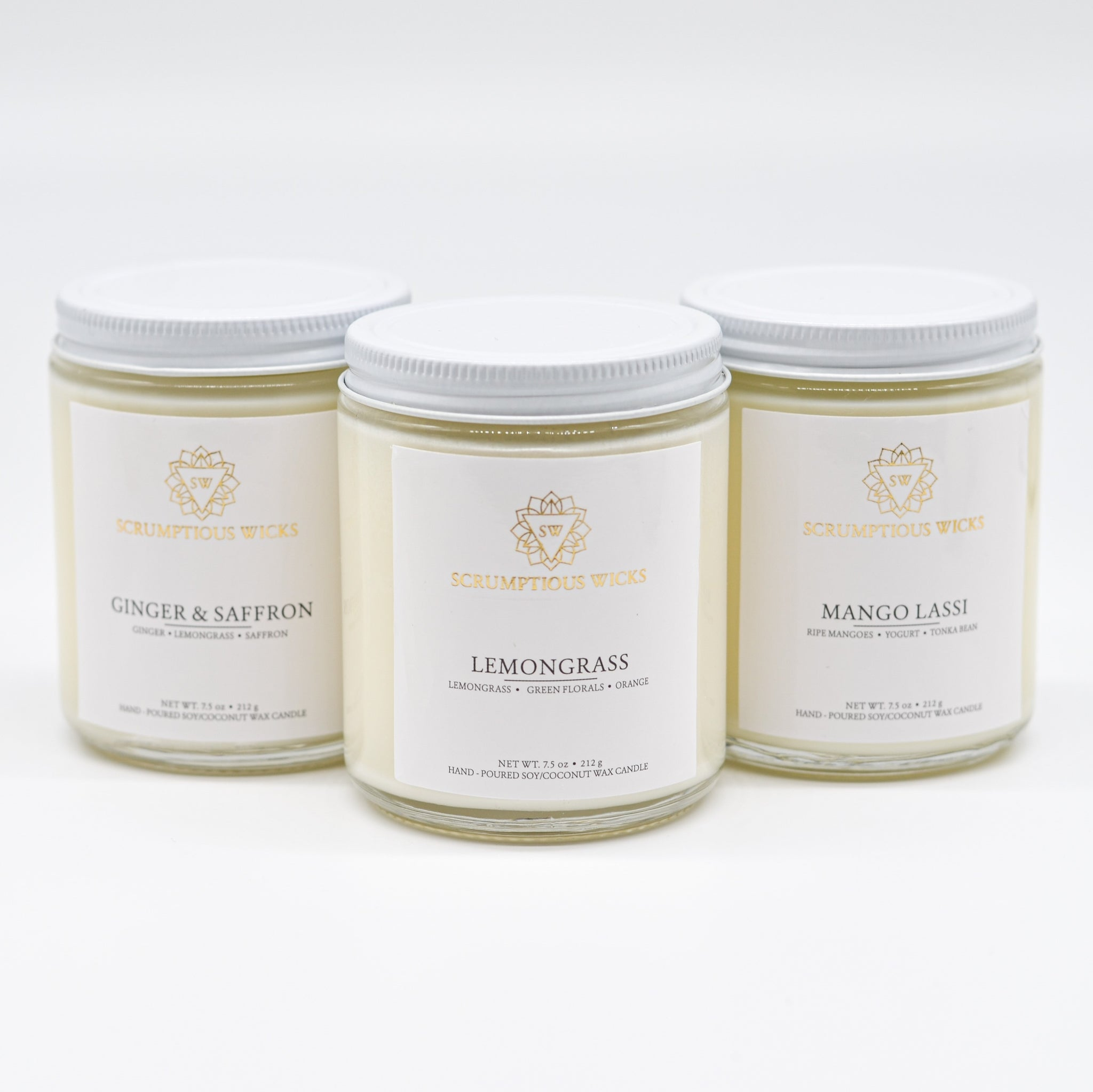 Kitchen Candle Bundle: Ginger & Saffron, Lemongrass, and Mango Lassi