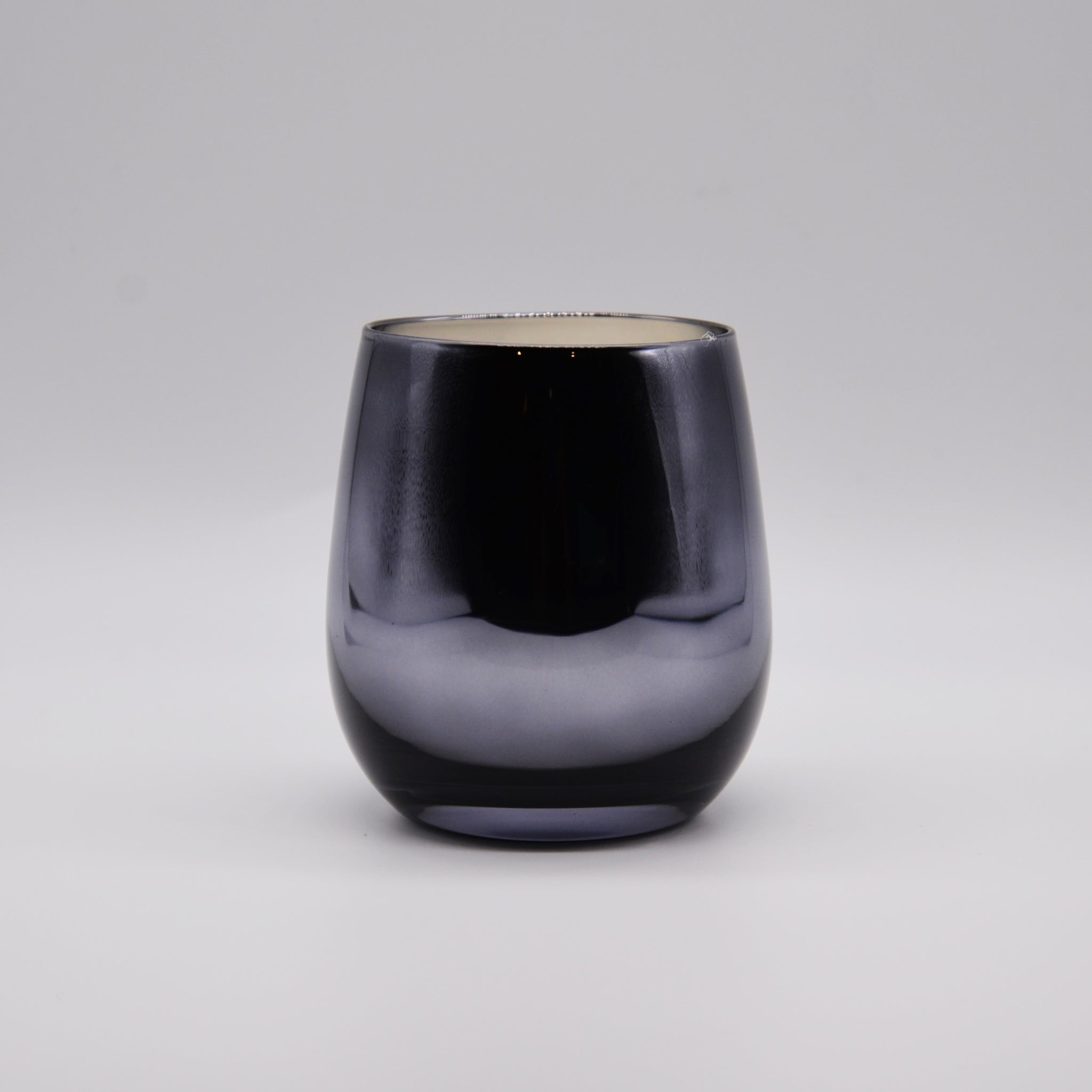 """Leila"" - Tapered Metallic Glass Jar"