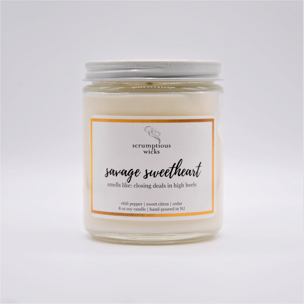 """Savage Sweetheart"" Soy Candle"