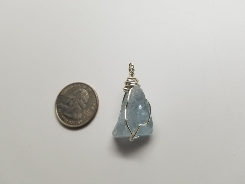 Celestite, pendant, side of pendant
