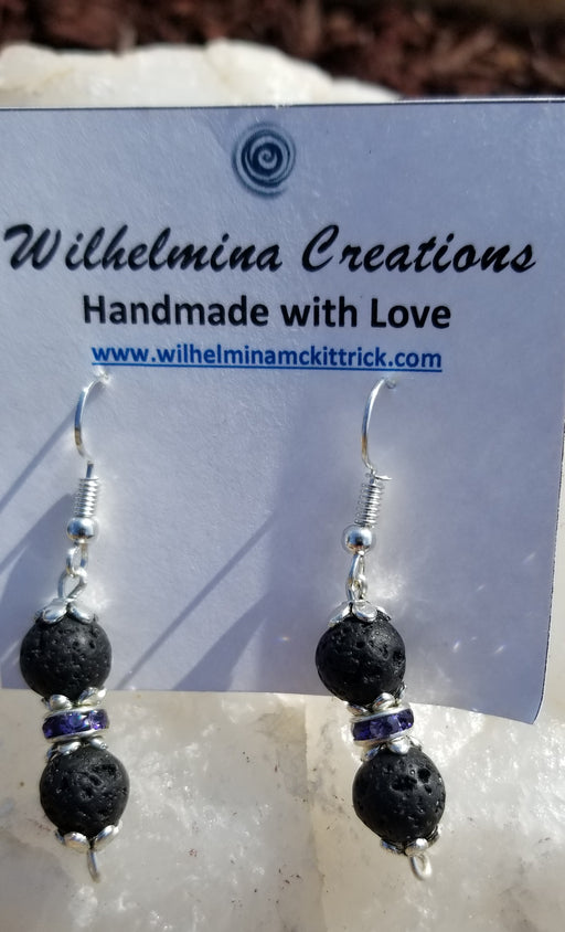 Black lava stone Earrings