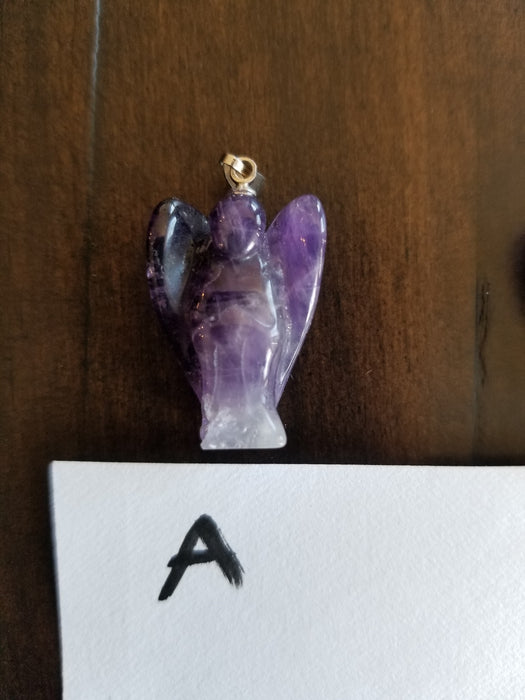Amethyst Angel Pendants