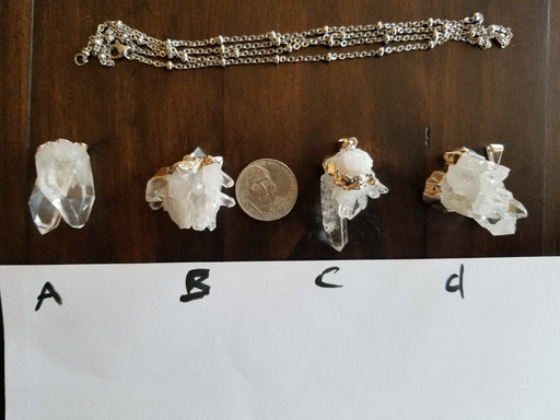 Clear Quartz Cluster Pendants