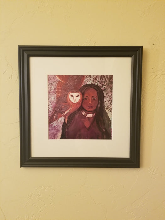 Framed Print of Painting, titled Reflecting